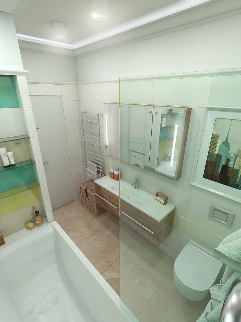 Дизайн интерьера дома (ванная)