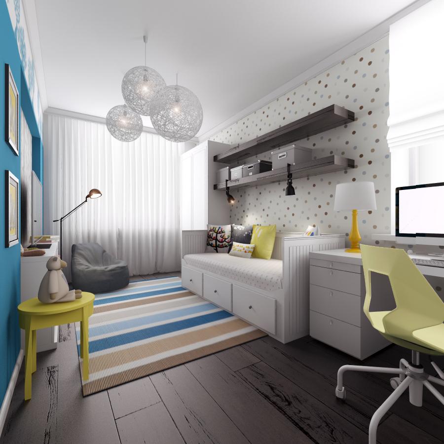 Дизайн интерьера дома (детская)