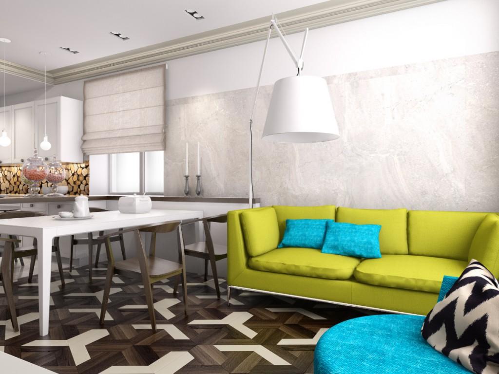 Дизайн интерьера дома (кухня-столовая)