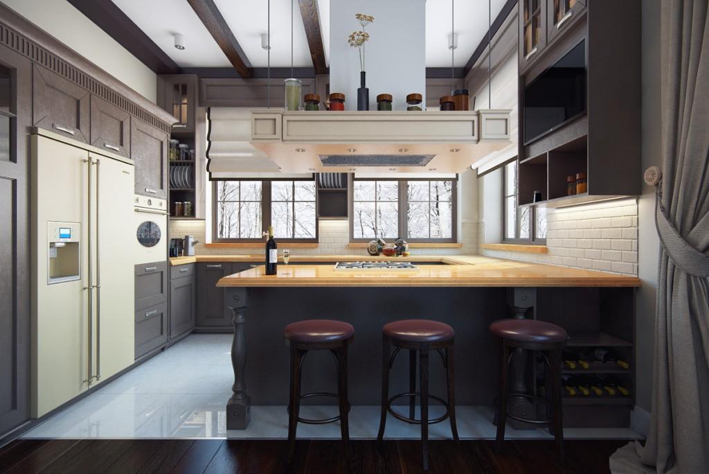 Дизайн квартиры (кухня-столовая)