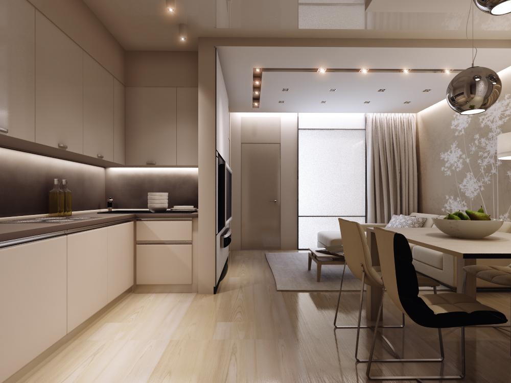 Дизайн интерьера квартиры в жилом комплексе «Родники»