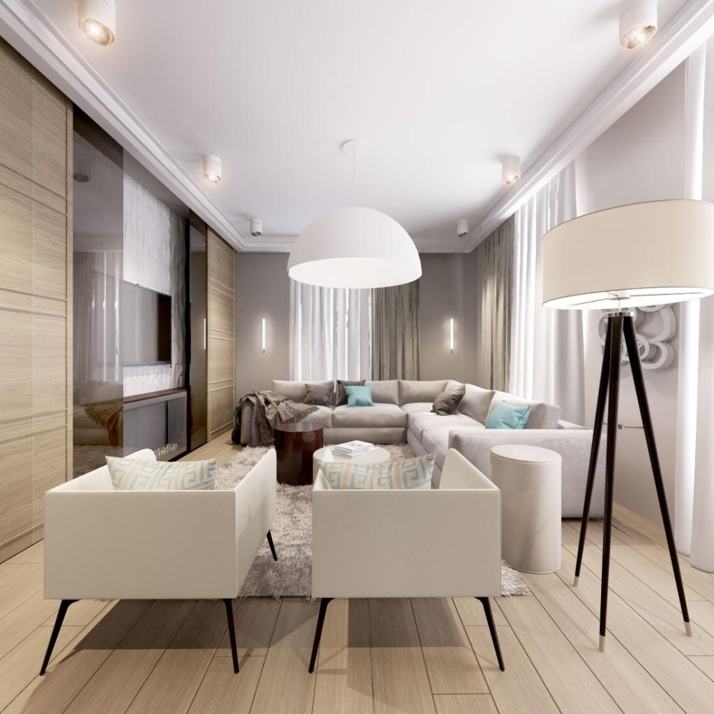 Дизайн интерьера квартиры на проспекте Мира