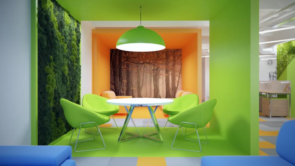 Дизайн интерьера офиса (зона переговоров)