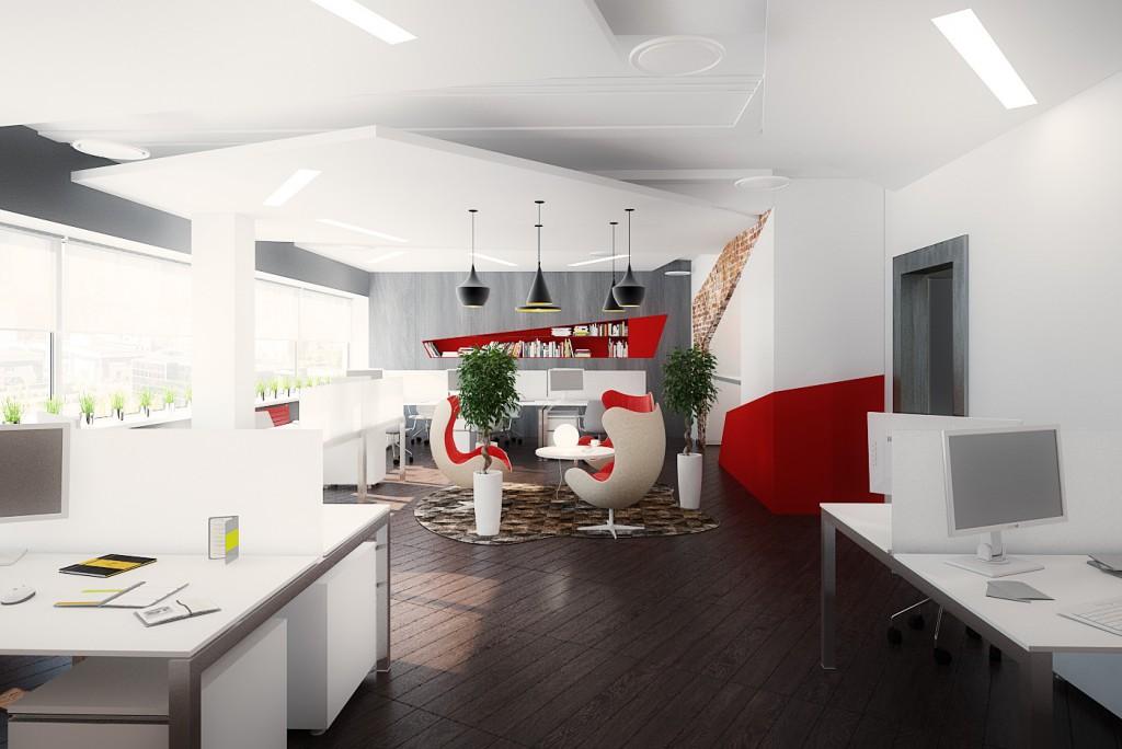 Дизайн интерьера офиса (зона Open Space)