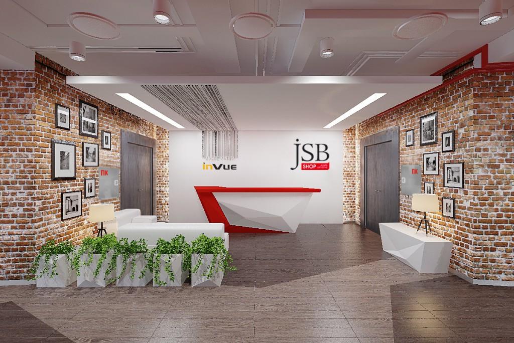 Дизайн интерьера офиса компании «Jsb Shop»