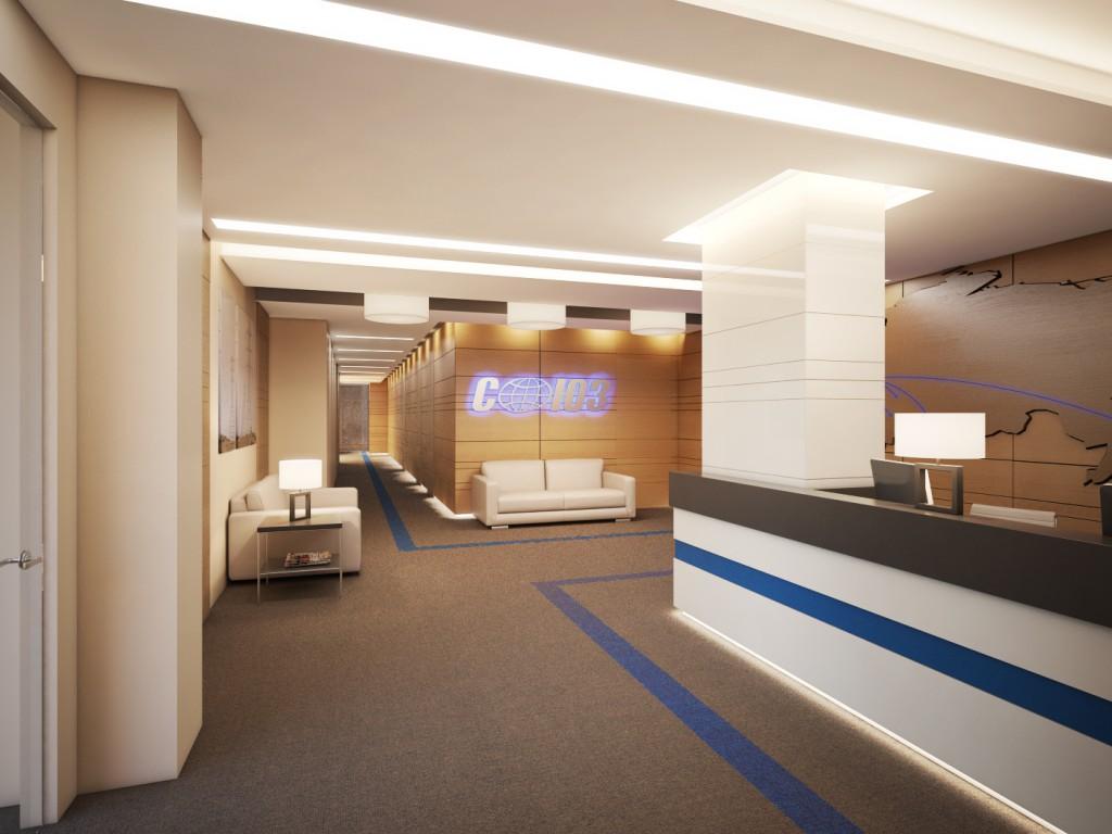 Дизайн интерьера офиса компании «Союз»