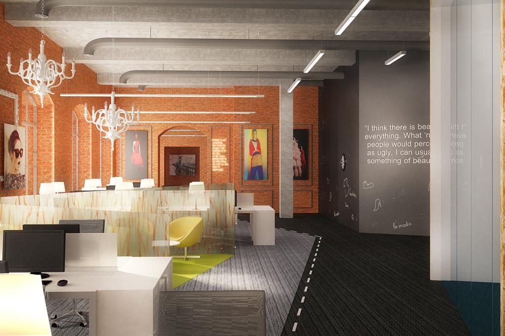 Дизайн интерьера офиса (компания LaModa)