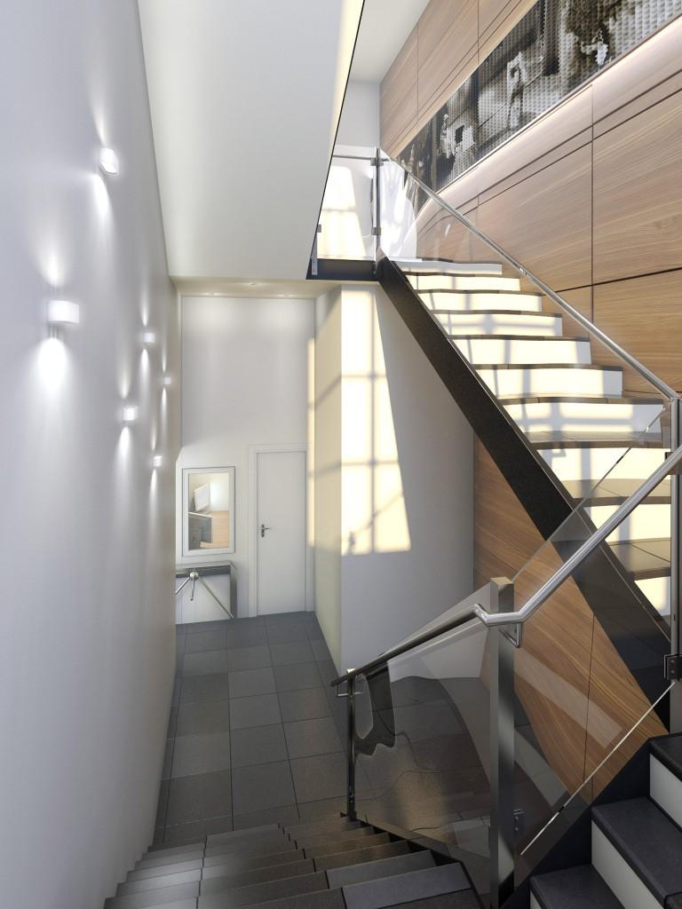 Дизайн интерьера офиса (лестница)