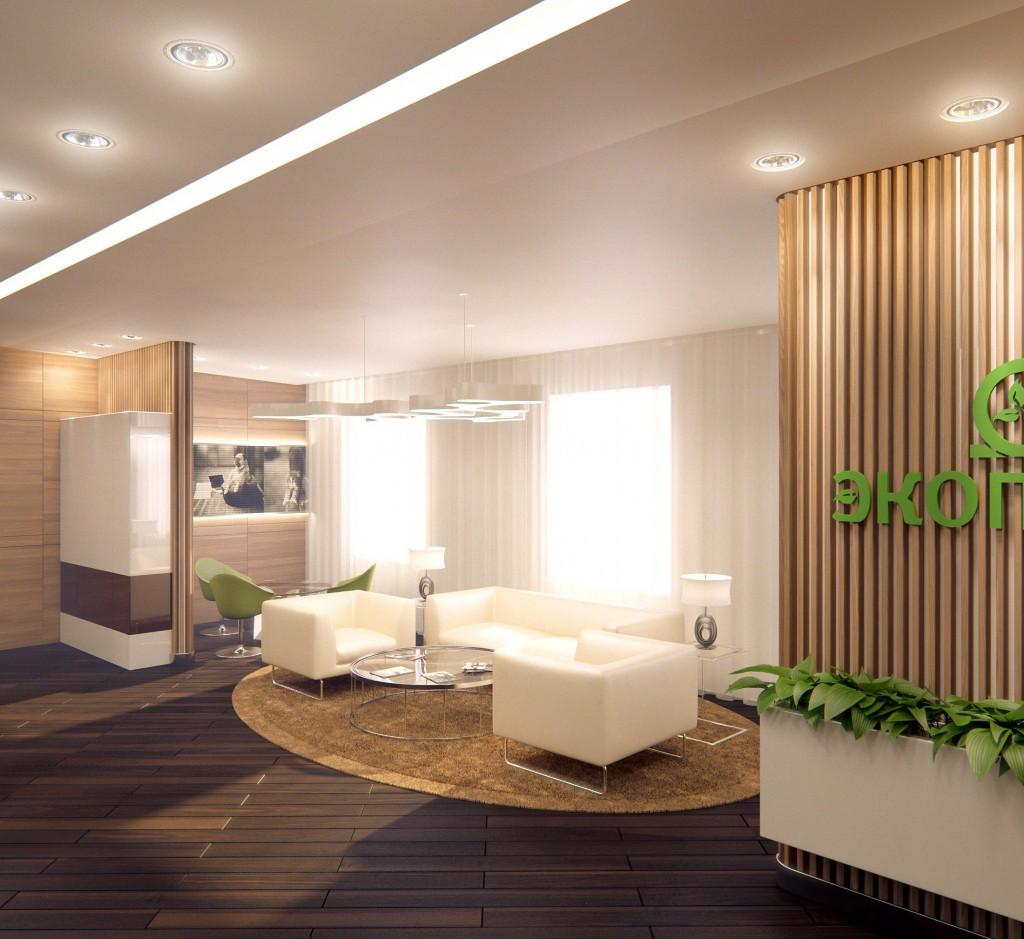 Дизайн интерьера офиса производственной компании «Экопром»
