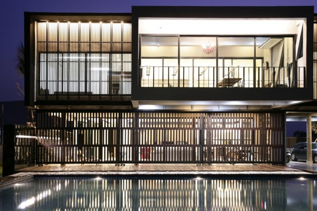 дизайн фасада деревянного дома