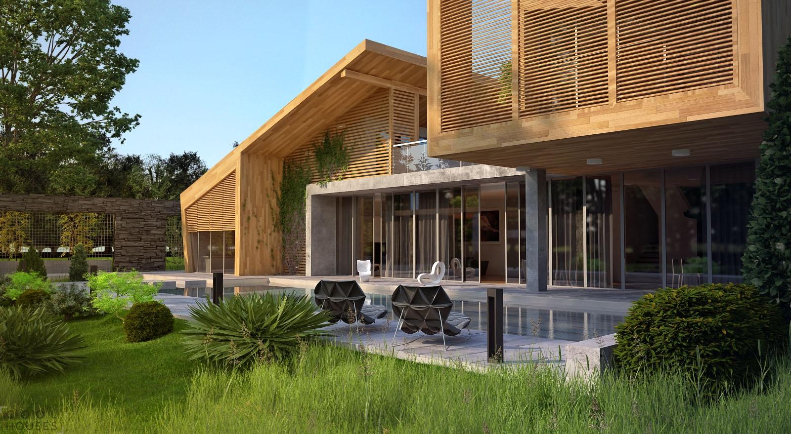 дизайн фасадов частных загородных домов