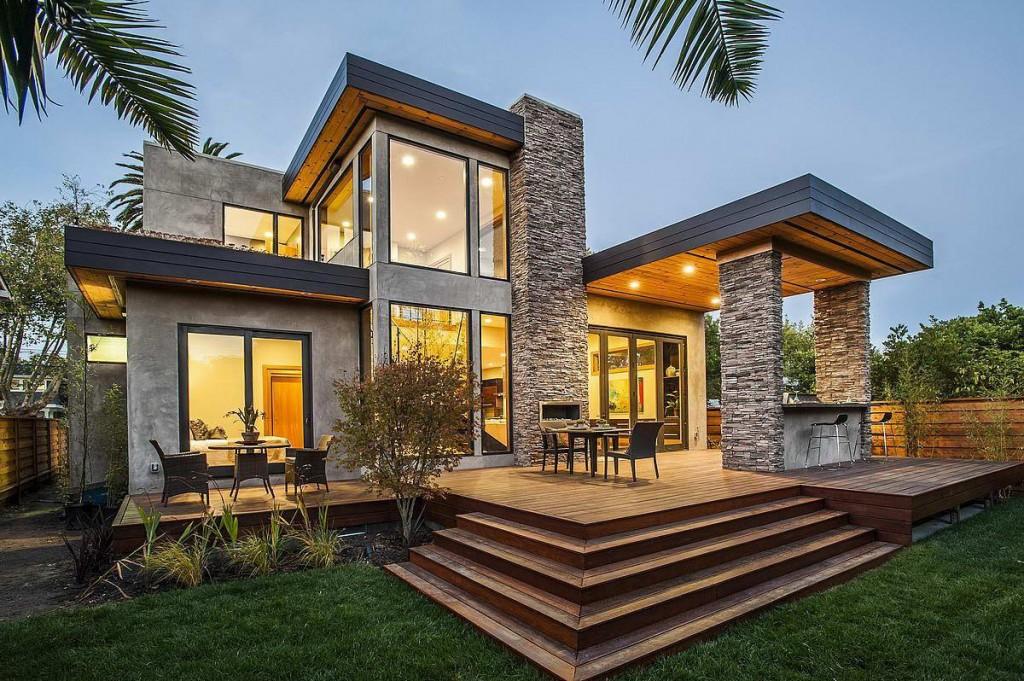 дизайн фасадов загородных домов
