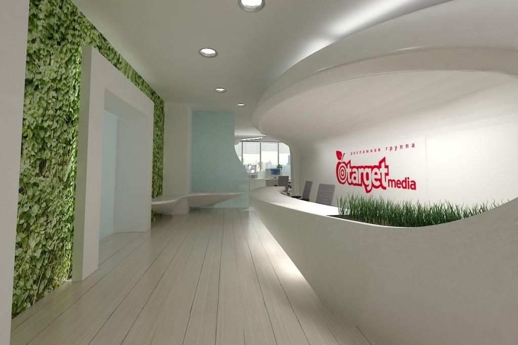 дизайн холла офиса