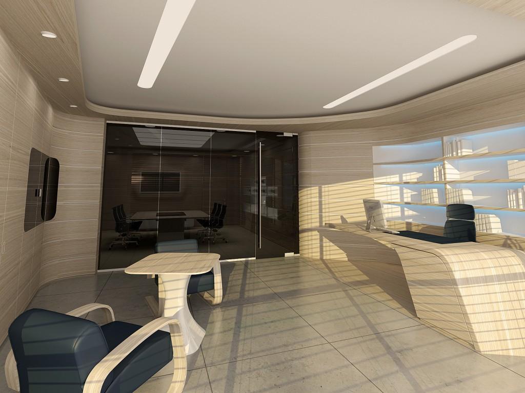 Оригинальный дизайн холла офиса – встречайте клиентов правильно! - Фото