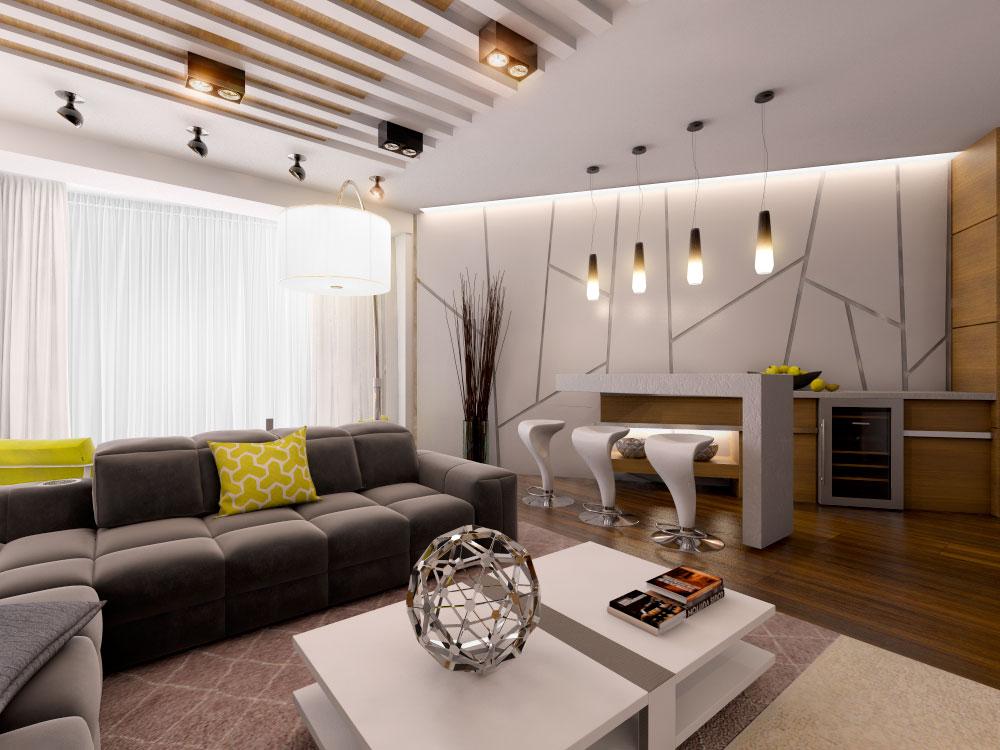 Оригинальный дизайн интерьера в современном стиле от БЮРОСНЕГ - Фото
