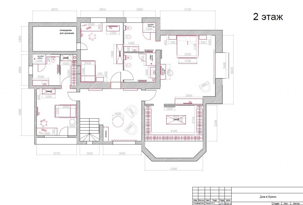 Дизайн-проект загородного дома (план расстановки мебели)