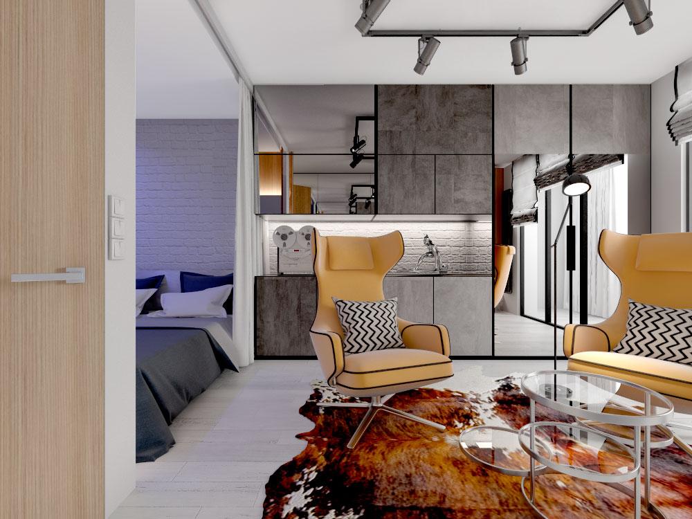 дизайн интерьера маленькой квартиры от специалистов бюроснег