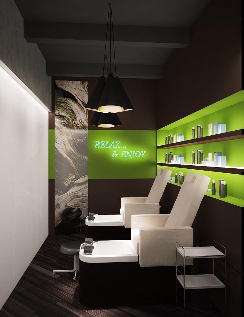 Дизайн маленького салона красоты - Фото