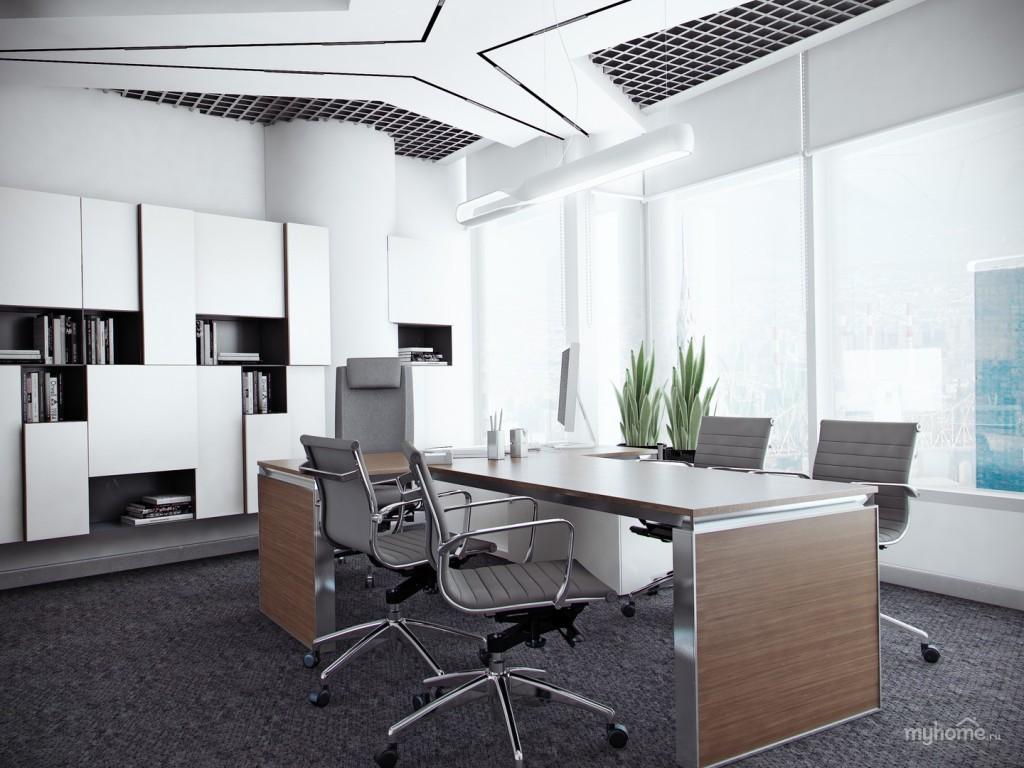 интерьер офиса в стиле минимализм