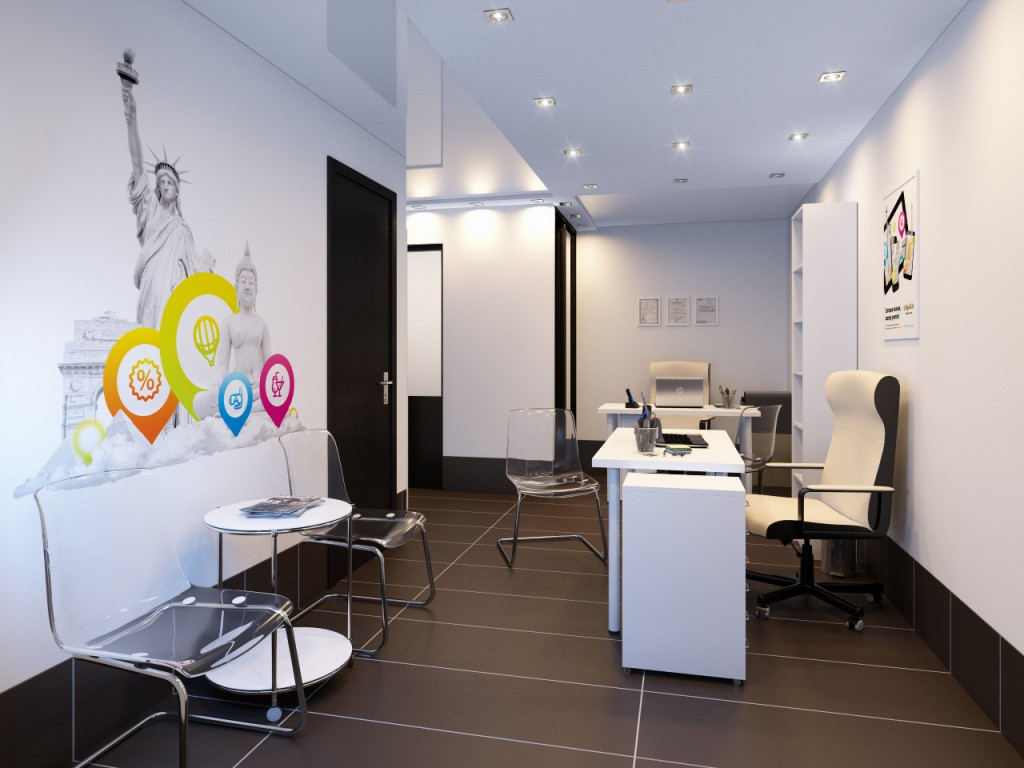 дизайн-проект офиса турагентства