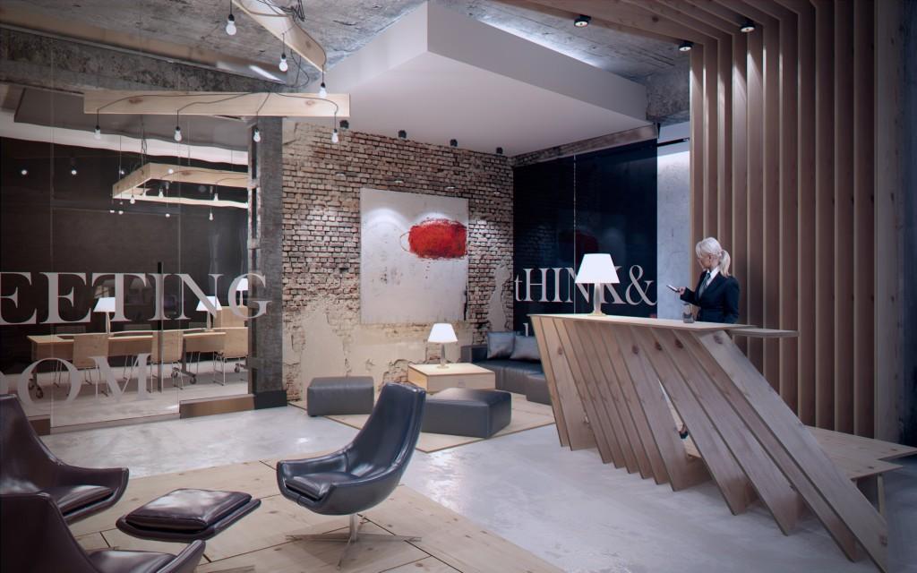 Интерьер офиса в стиле Лофт - Фото