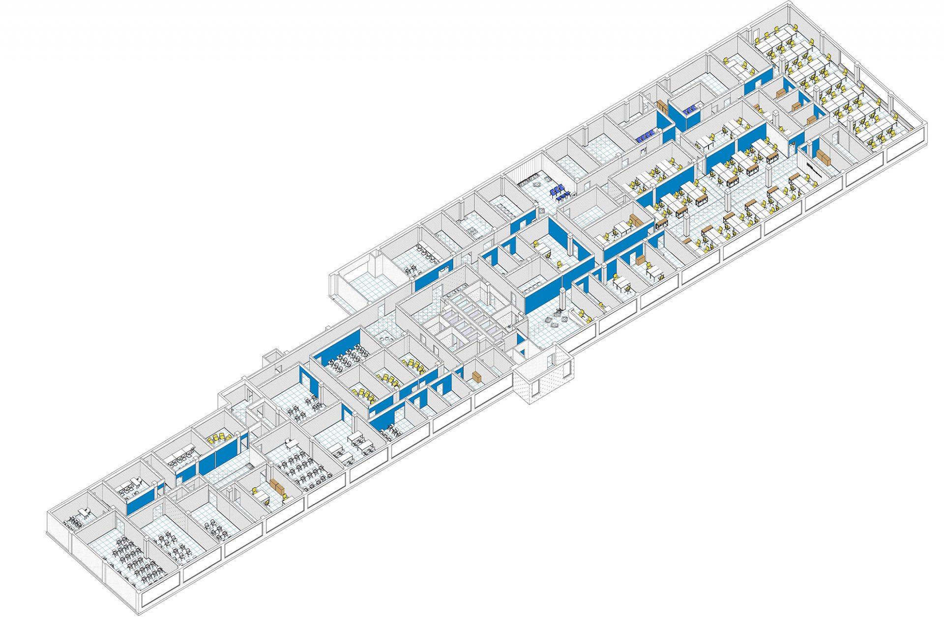 3д модель офиса авиакомпании Победа от бюро Снег