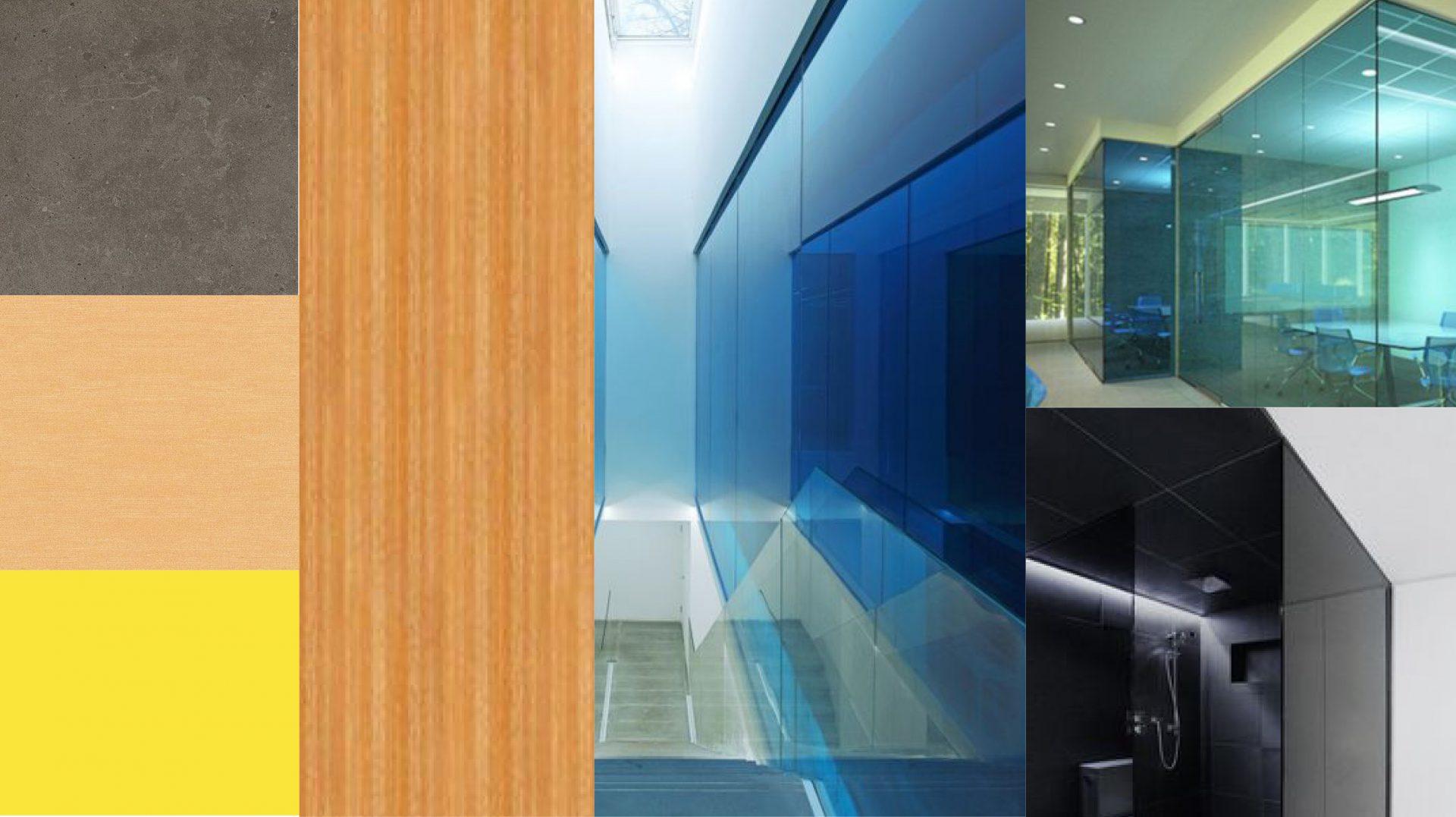 Материалы для проекта интерьера офиса Юниаструм банк