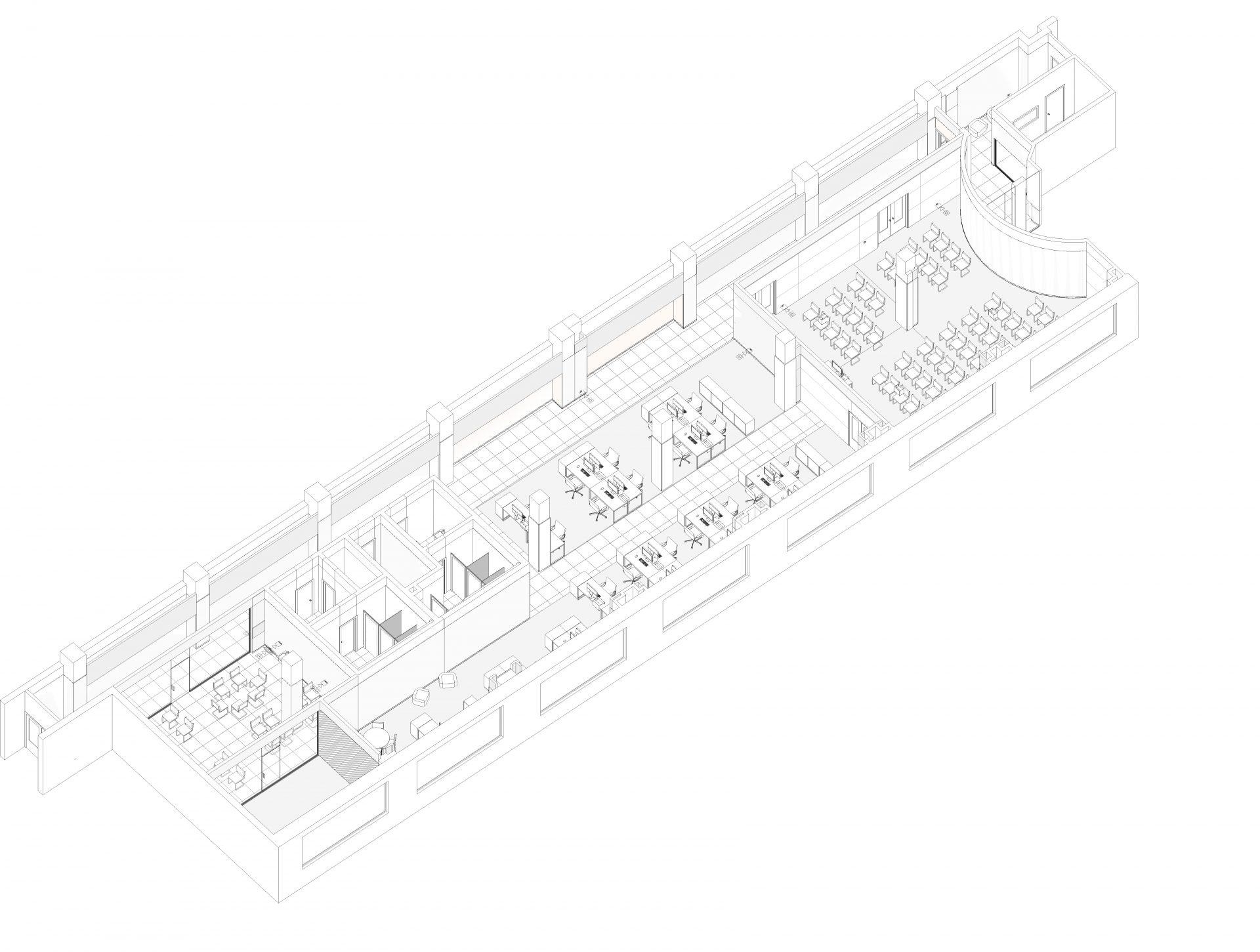 3д модель интерьера офиса Gemalto 1