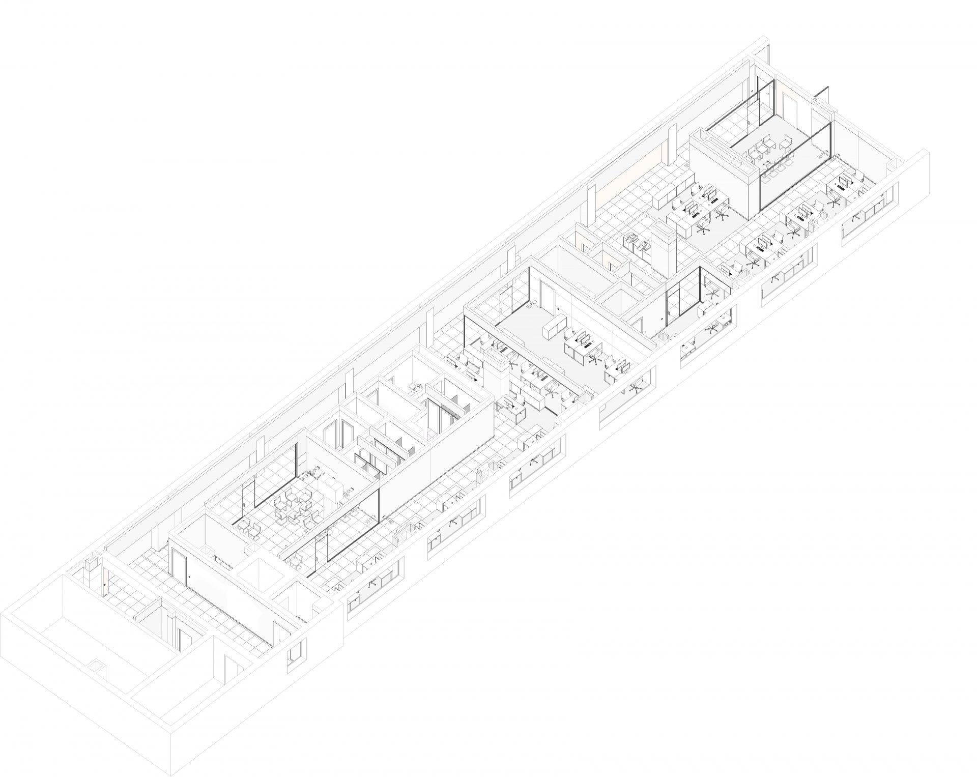 3д модель интерьера офиса Gemalto 2