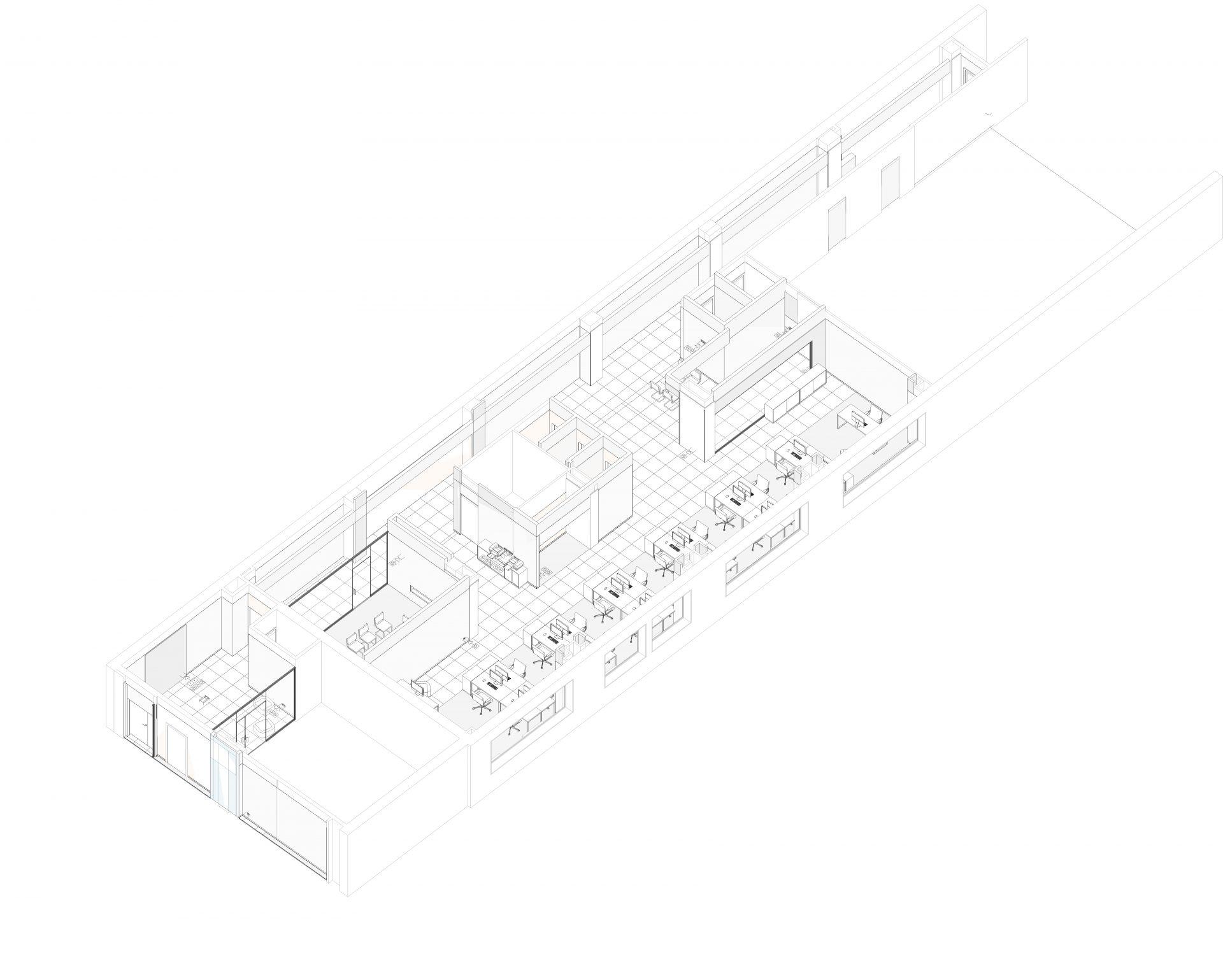 3д модель интерьера офиса Gemalto 3