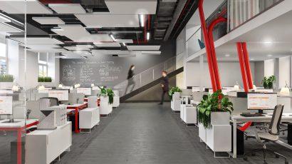 Проект офиса компании «Комус»
