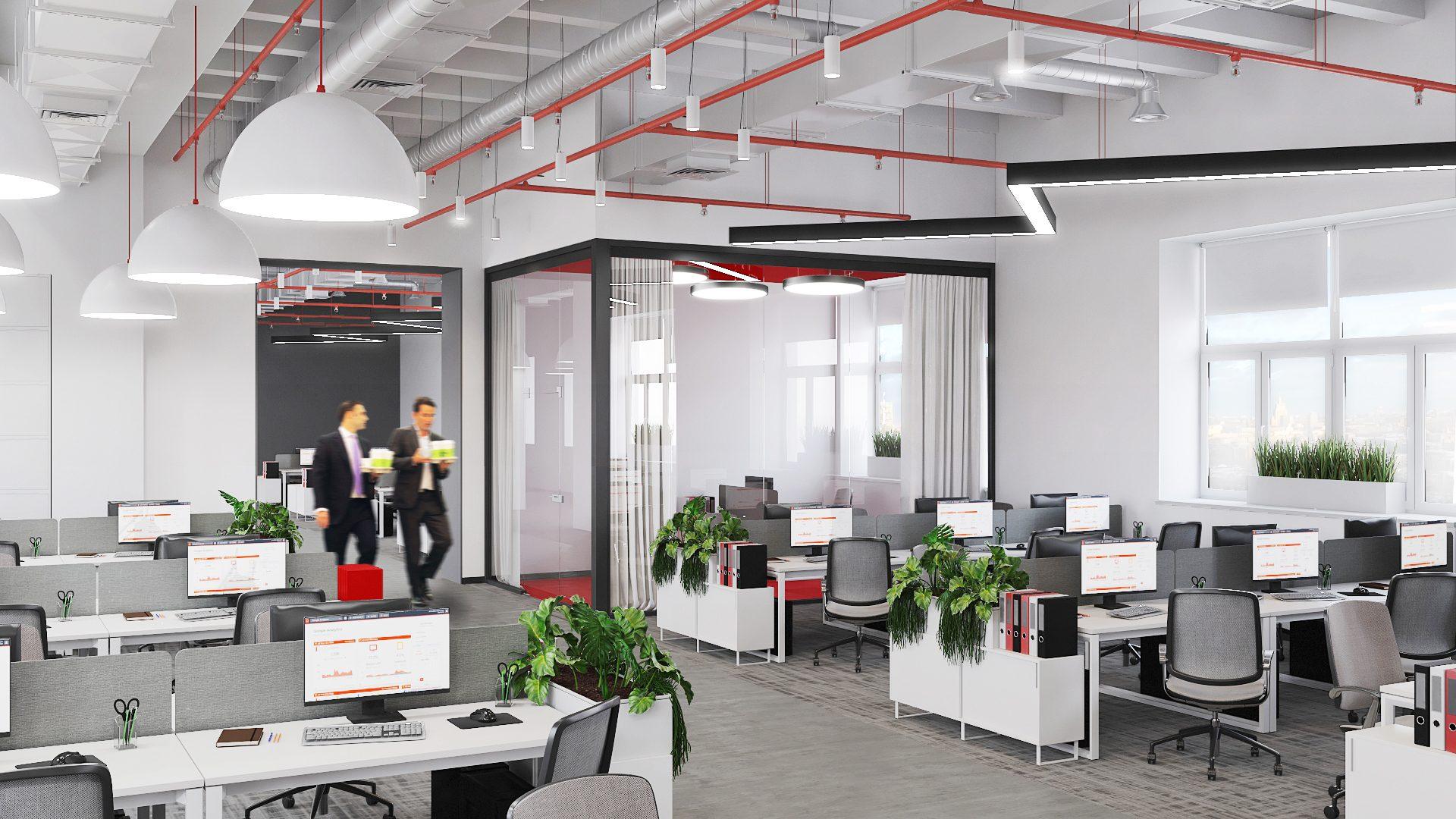 Проект офиса Комус. Визуализация переговорной