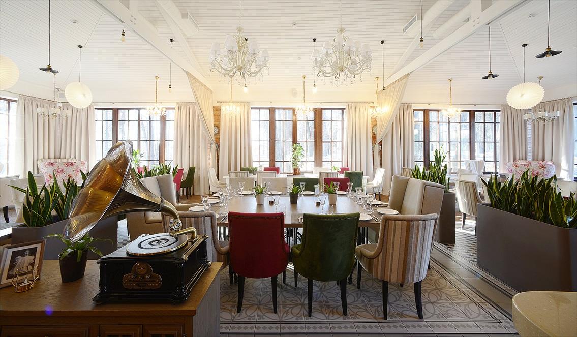 Дизайн проект интерьера ресторана Усадьба