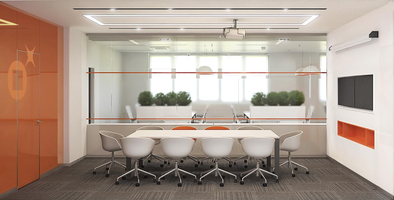 Визуализация проекта офиса Gemalto. Переговорная