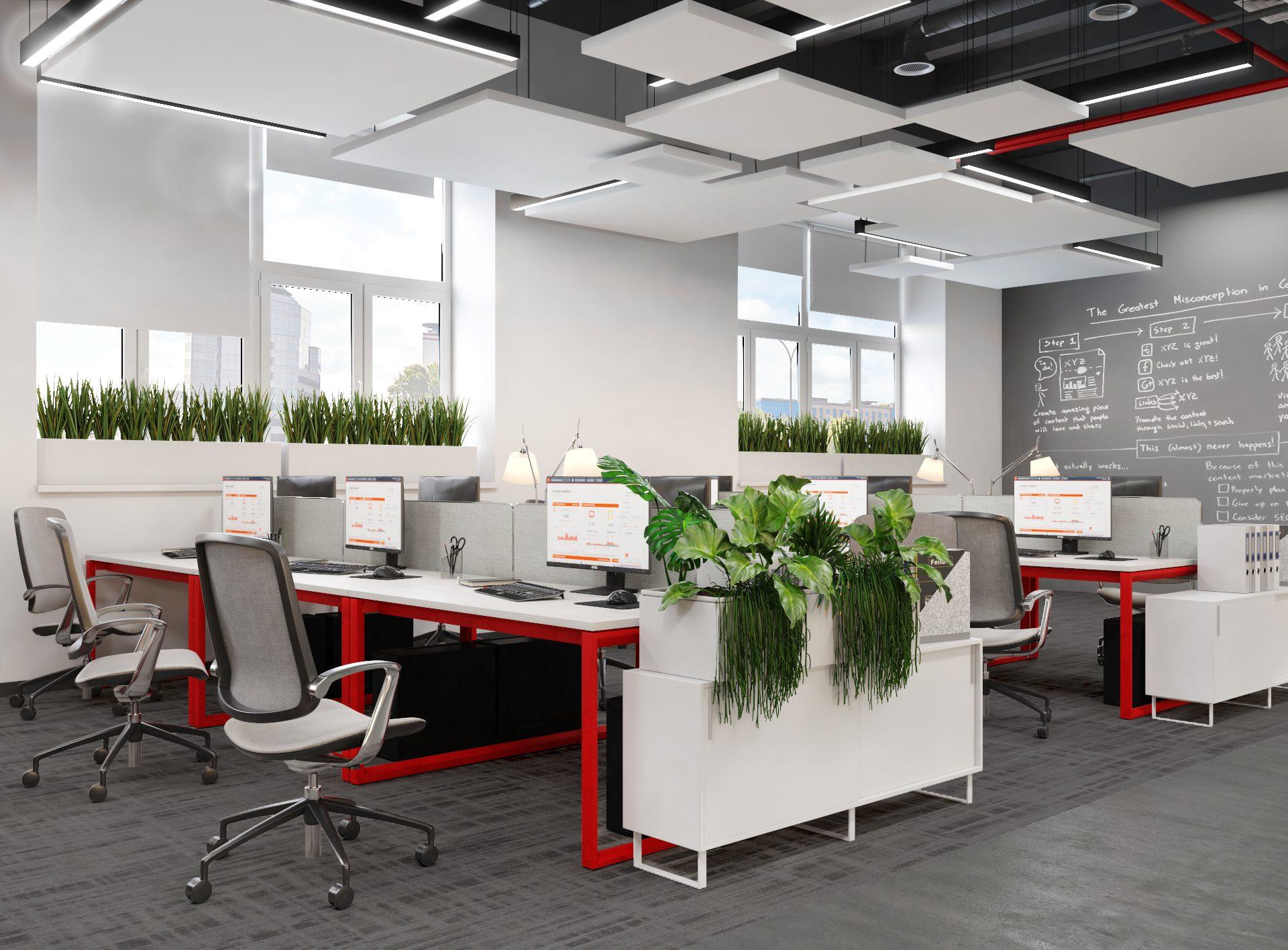 Проект офиса Комус. Визуализация рабочего места