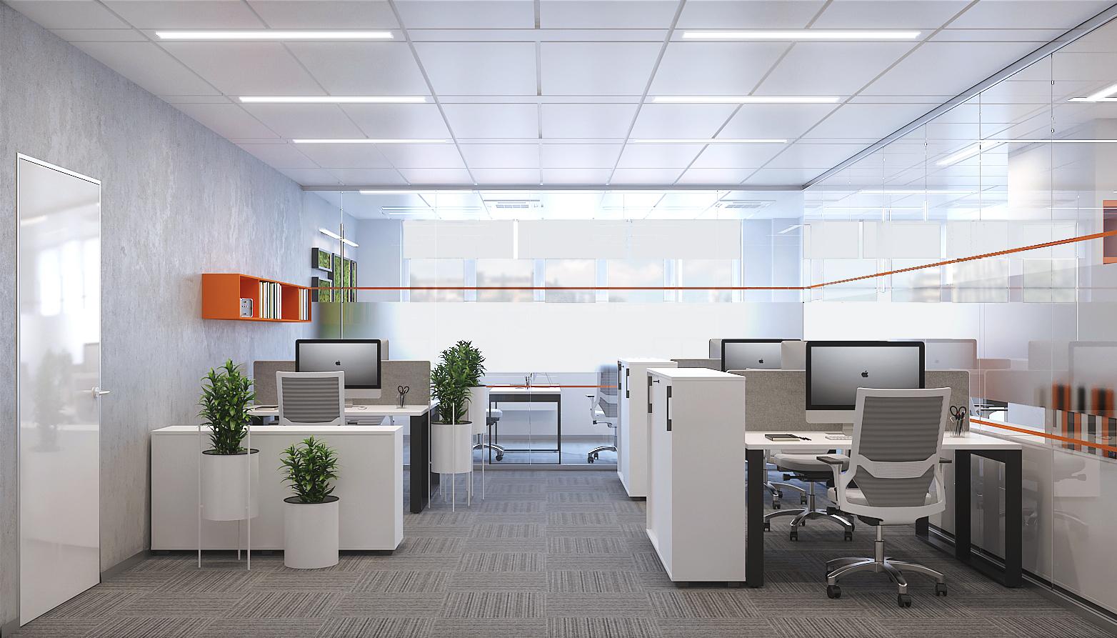 Визуализация проекта офиса Gemalto. Кабинет
