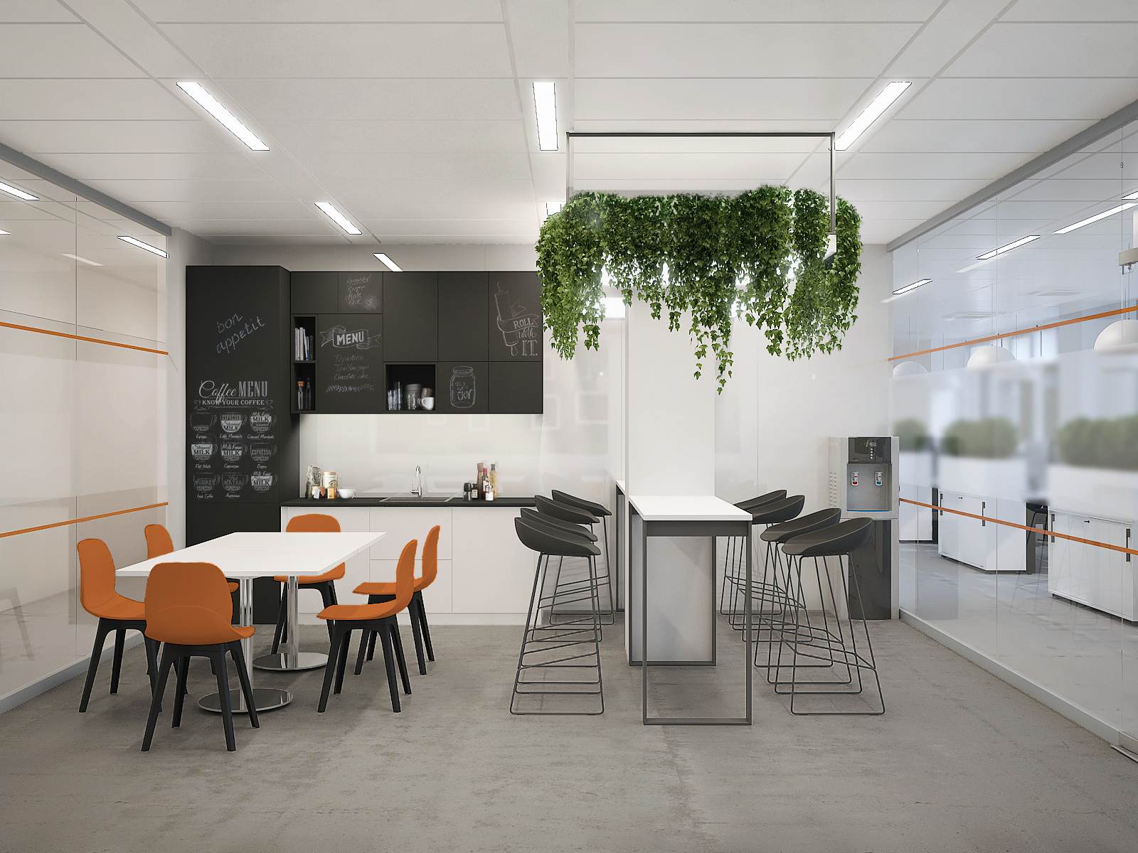 Визуализация проекта офиса Gemalto. Кухня 2