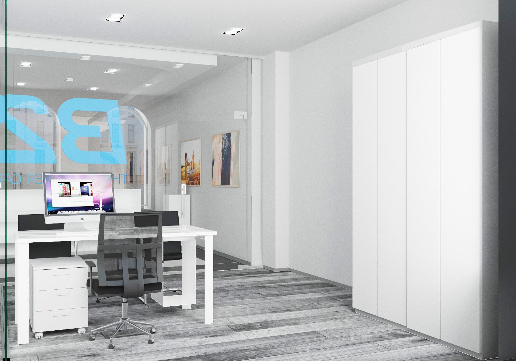 Дизайн интерьера сервисного центра Apple. Визуализация