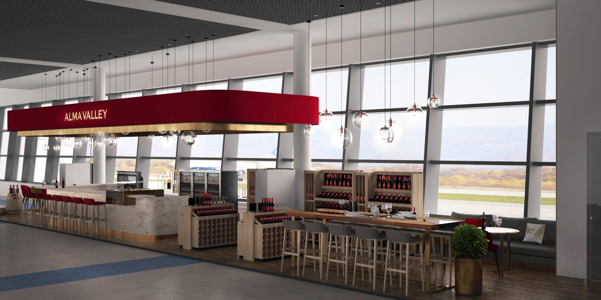 Дизайн проект интерьера Alma bar