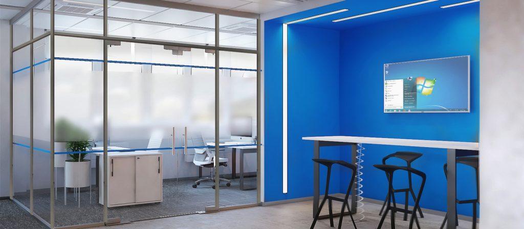 Современный дизайн офиса в стиле High-Tech - Фото